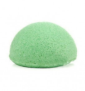 Natural Konjac Exfoliator Face Cleansing Sponge Green Tea