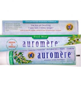 Auromere - Fresh Mint Herbal Toothpaste 117g 01