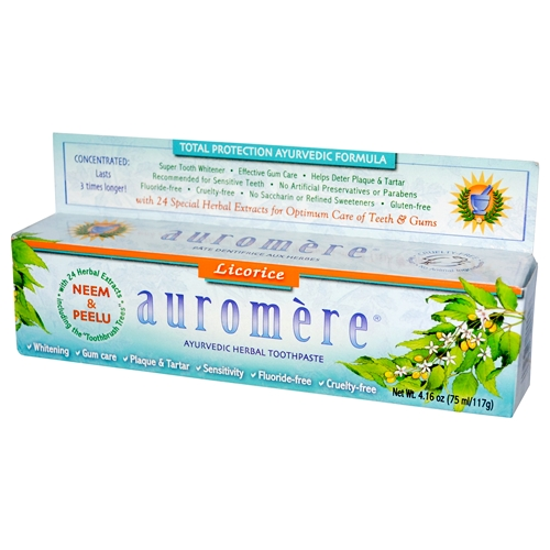 Auromere - Licorice Herbal Toothpaste 117g 01