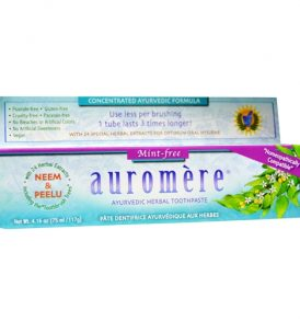 Auromere - Mint Free Herbal Toothpaste 117g 01