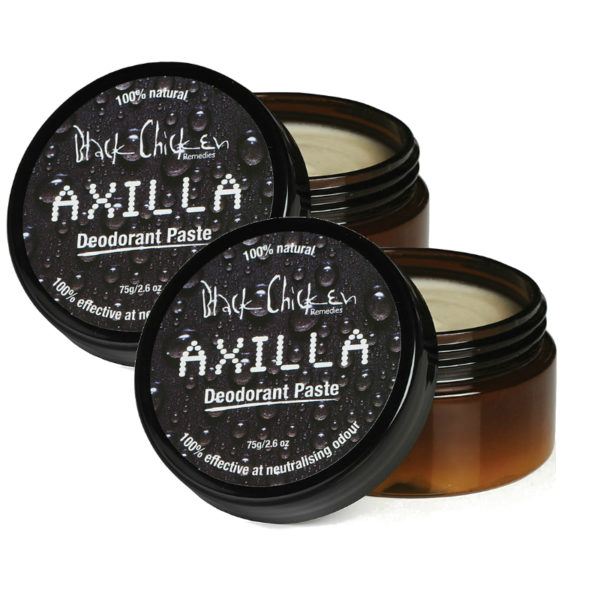 Image of 2 X Black Chicken Remedies Axilla Deodorant Paste™ 75g by Love Thyself Australia