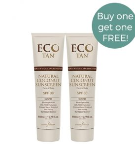 ECO Tan - Natural Coconut Sunscreen Untinted 150ml - Duo Pack 01