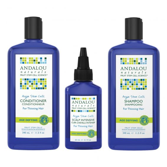Andalou Naturals - Thinning Hair System 3 Pack