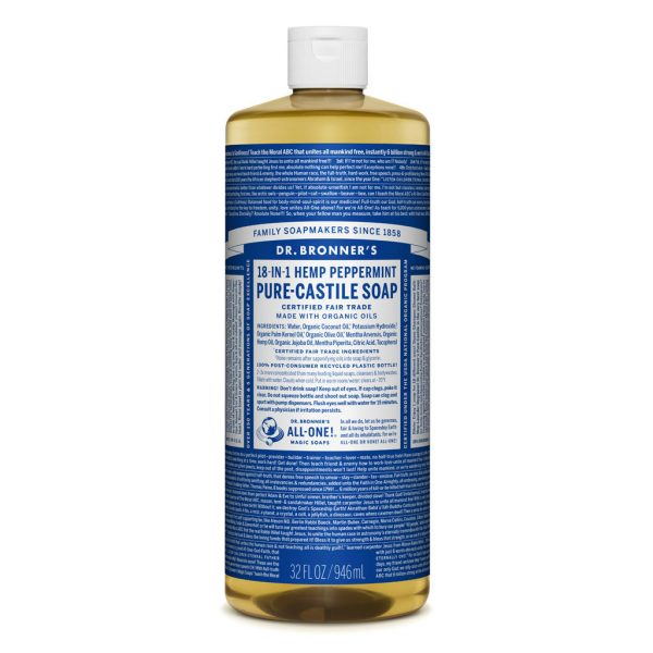 Dr Bronners – Liquid Castile Soap Peppermint 946ml image by Love Thyself Australia