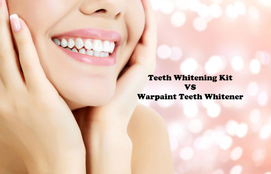 Teeth Whitening Kit VS Warpaint Teeth Whitener