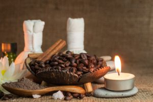 Organic coffee body scrub image by Love Thyself Australia