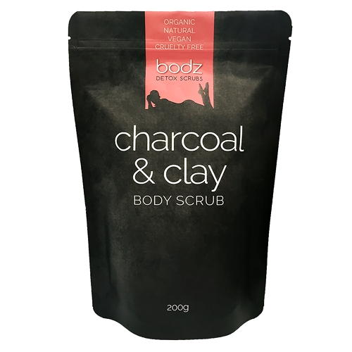 Image of Bodz – Activated Charcoal & Clay Body Scrub 200g by Love Thyself Australia