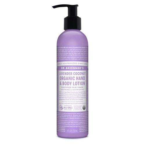 Dr Bronners – Hand & Body Lotion Lavender Coconut Pump 237ml 01