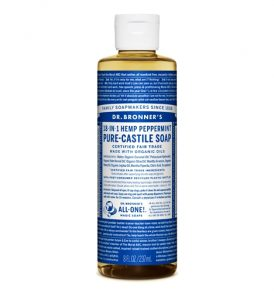Image of Dr Bronners – Liquid Castile Soap Peppermint 237ml by Love Thyself Australia