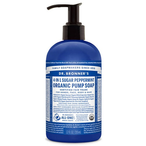 Dr Bronners – Organic Pump Soap Spearmint/Peppermint 355ml image by Love Thyself Australia