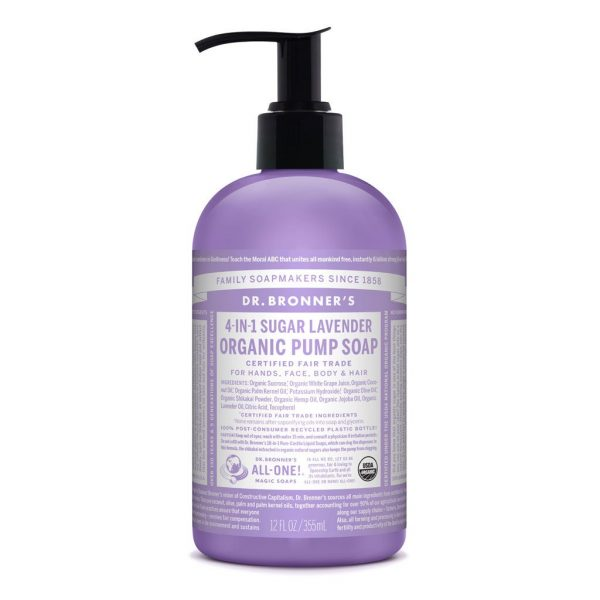Dr Bronners – Organic Pump Soap Lavender 355ml image by Love Thyself Australia