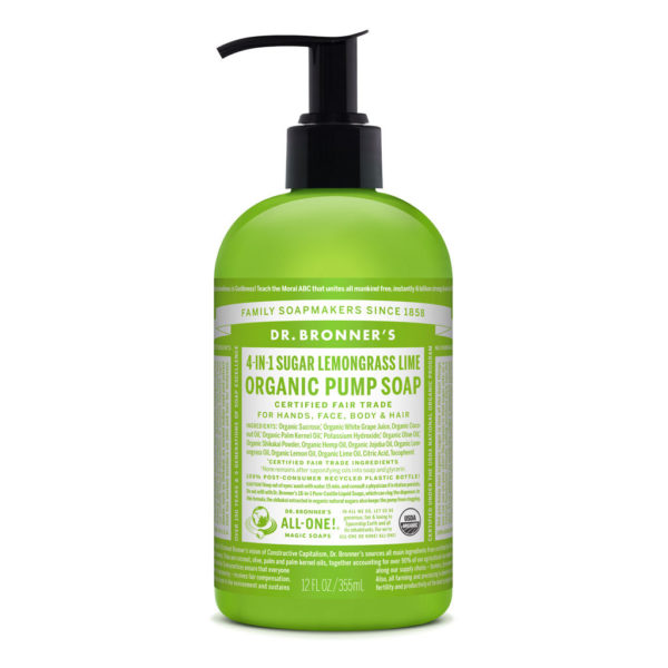 Dr Bronners – Organic Pump Soap Lemongrass Lime 355ml image by Love Thyself Australia