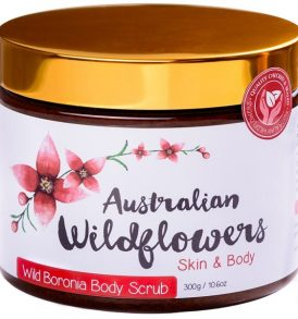 Image of Australian Wildflowers – 100% Natural Body Scrub with Wild Boronia Essential Oil 300g by Love Thyself Australia