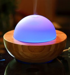Essentials In-A-Box - Bamboo Glass Ultrasonic Aromatherapy Diffuser 01