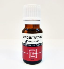Essentials In-A-Box - Concentration Organic Essential Oil Blend 10ml 01