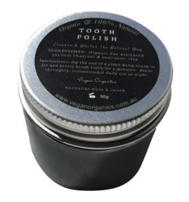Image of Vegan Organics – Organic Charcoal & Clay Tooth Polish 50g by Love Thyself Australia