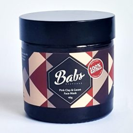Babs Bodycare - Pink Clay & Cacao Face Mask 40g 01