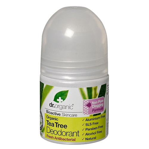 Image of Dr Organic – Tea Tree Deodorant 50ml by Love Thyself Australia