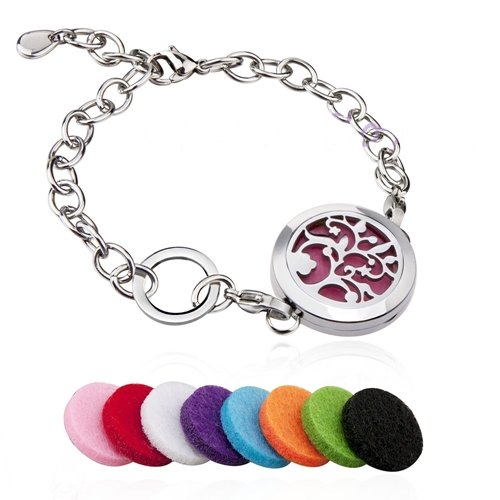 Image of Aromatherapy Essential Oils Diffuser Locket Bracelet by Love Thyself Australia
