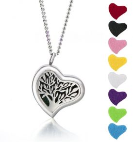 Image of Aromatherapy Necklace Diffuser Pendant - Heart by Love Thyself Australia
