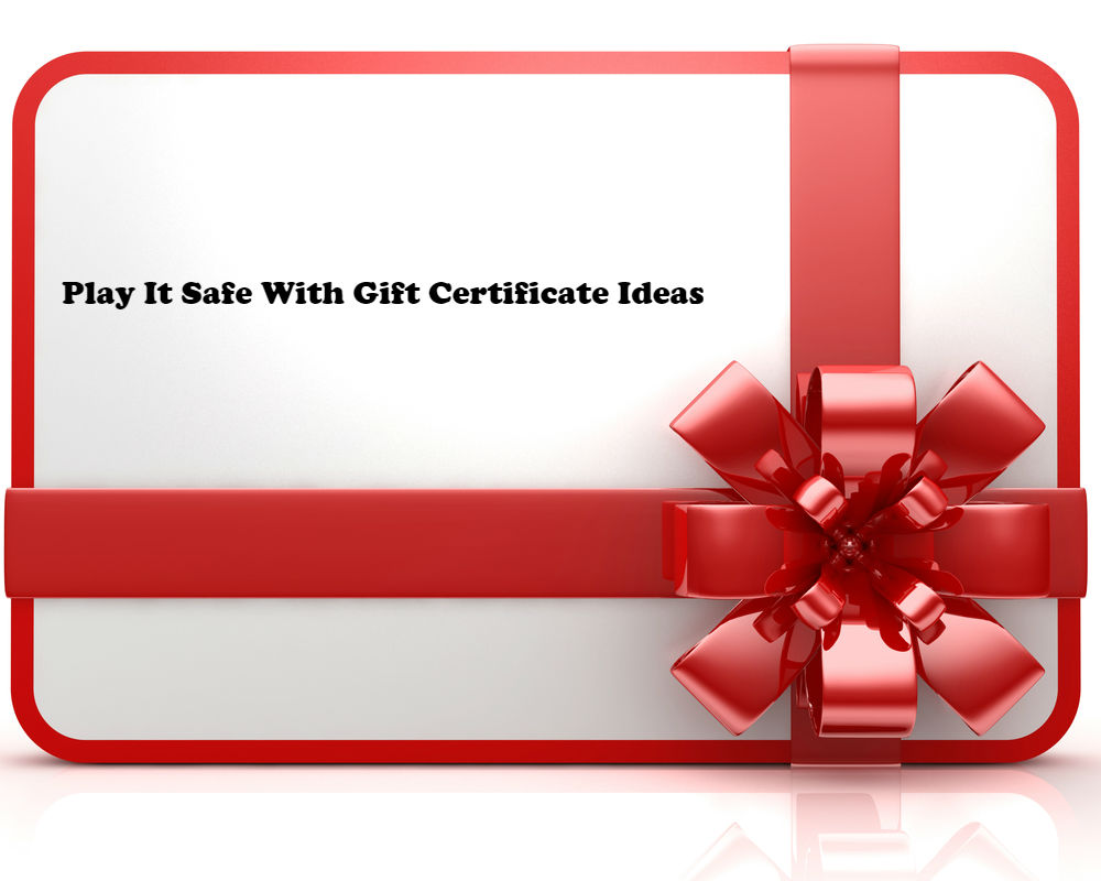 Play It Safe With Gift Certificate Ideas article image by Love Thyself