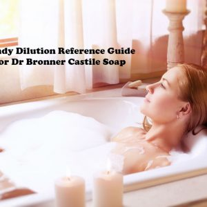 Handy Dilution Reference Guide for Dr Bronner Castile Soap article image by Love Thyself