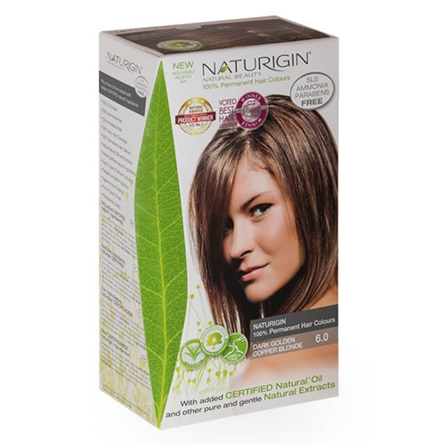 Naturigin – Natural Permanent Hair Colour Dark Golden Copper Blonde 6.0 image by Love Thyself Australia