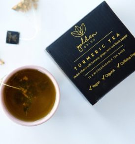 Golden Grind – Turmeric Tea Biodegradable Tea Bags 15 pack image by Love Thyself Australia