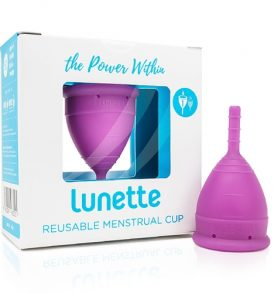 Lunette Reusable Menstrual Cup Violet – Model 1 image by Love Thyself Australia
