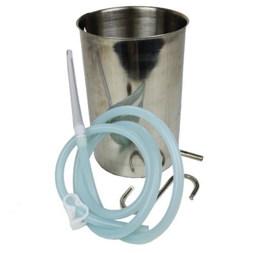 Enema Kits Australia – Stainless Steel Bucket Enema Kit 2L image by Love Thyself Australia
